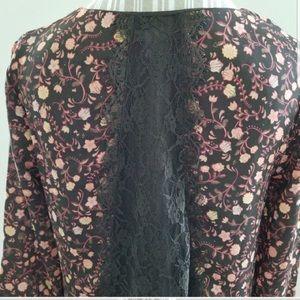 LC Lauren Conrad Lace Back Floral Top